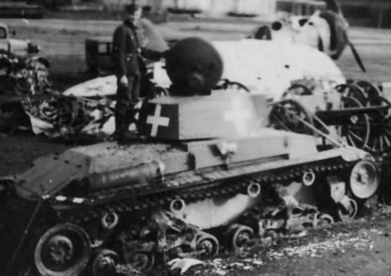 Kilőtt Panzer 35(t)