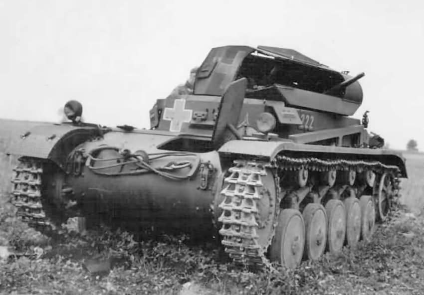 Kilőtt Panzerkampfwagen II Ausf. C