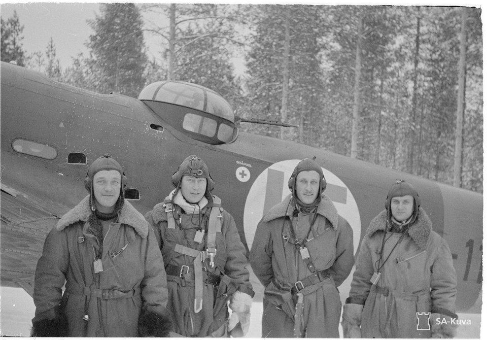 Finn Bristol Blenheim könnyűbombázó legénysége