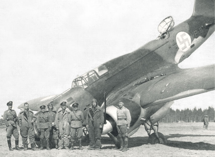 Egy balul sikerült leszállás egy finn Iljusin DB-3 közepes bombázóval.