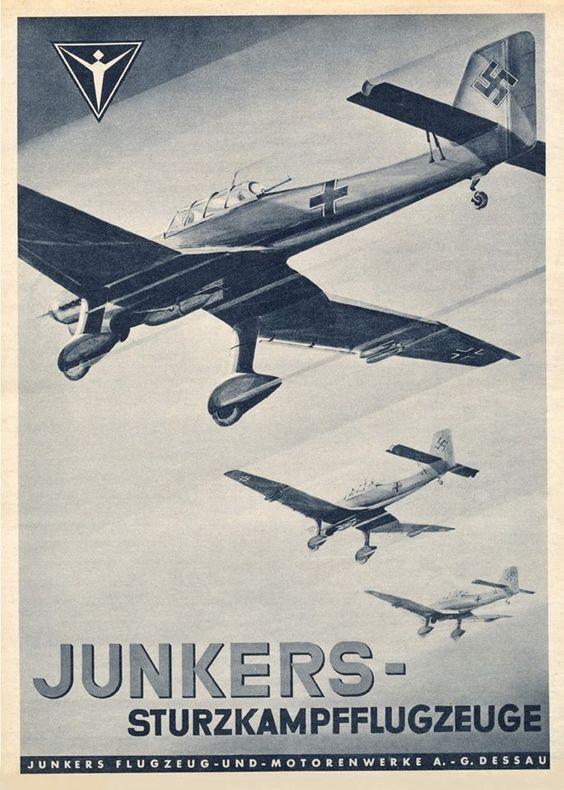Junkers reklám Ju 87 Stuka zuhanóbombázókkal