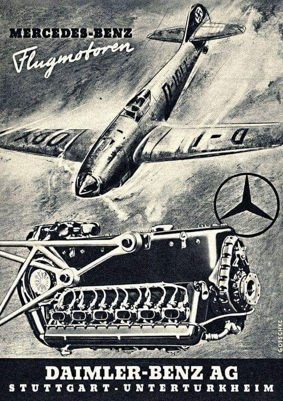 Mercedes-Benz repülőgép-motor reklám még a békeévekből