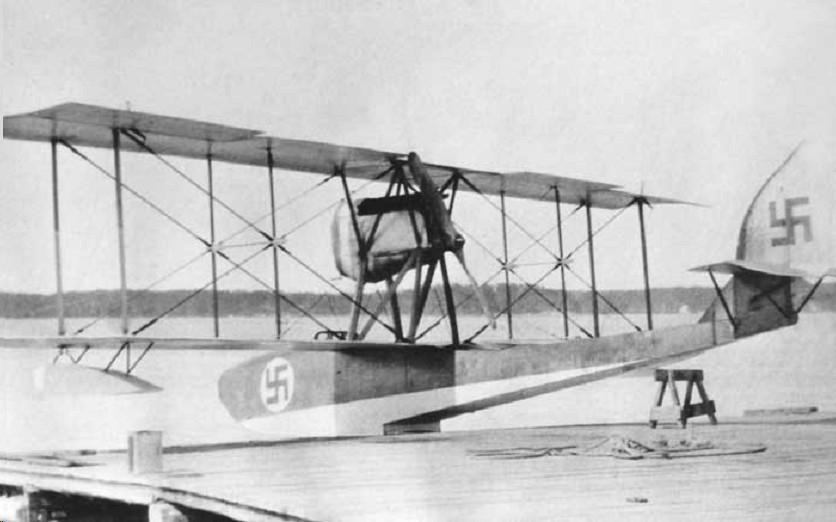Olasz gyártmányú S.I.A.I. S.9 repülőcsónak.
