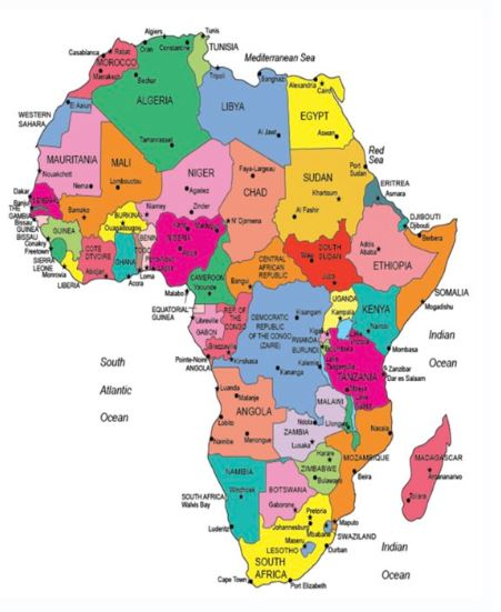 Etiopia Kulugyminiszteriuma Es Az Afrika Terkep Terkepeszeti