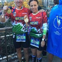 Tolnai Éva és Agyagási Ákos felejthetetlen hangulatban, sikerrel teljesítette a 2018-as New York Marathont!