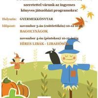 Őszi szünidőző programok a Gyermekkönyvtárban!