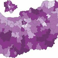 Itt a koronavírus-járvány legveszélyeztetebb területeinek térképe!