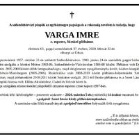 Szentmise Varga Imre atya lelki üdvösségéért!