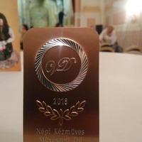 Rangos művészeti díjat nyert Vincze Zita bicskei gyertyadíszítő művész!