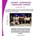 Adventi jótékonysági akusztikus koncert Bicskén - nemes céllal, meglepetés produkciókkal!