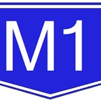 Autószállító tréler borult fel az M1-esen!
