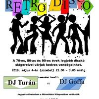 Fergeteges Retro Disco szombaton a bicskei Petőfi Művelődési Központban!