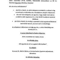 Szeniorok Bicskei Akadémiája november 25-én kedden 15.00 órától!