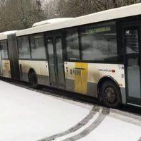 A nagy hideg miatt kimaradt a hétfő reggeli helyi autóbuszjárat!