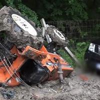 Szörnyethalt a menteni igyekvő traktorvezető Gyermely-Gyarmatpusztán!
