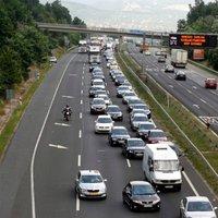 Torlódások az M1-es autópályán Budapest felé!