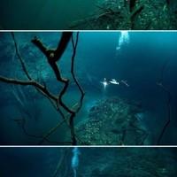 vízalatti folyó Mexikóban