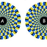 Optikai csalódás: Melyik kör forog gyorsabban?