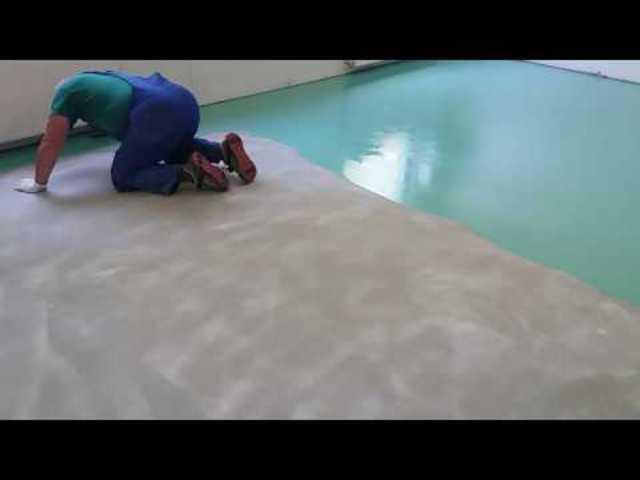 Műgyanta padló készítése