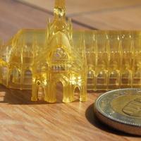 30 mikronos rétegvastagság a Wanhao Duplicator 7 resin nyomtatóval