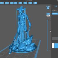 Warhammer Bloodletter inspirálta figura - műgyantás géppel
