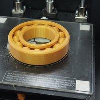 3D nyomtatott csapágy - működőképes (nagyjából)