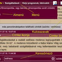 Hogyan keressünk a WebSétákban? – a menürendszer