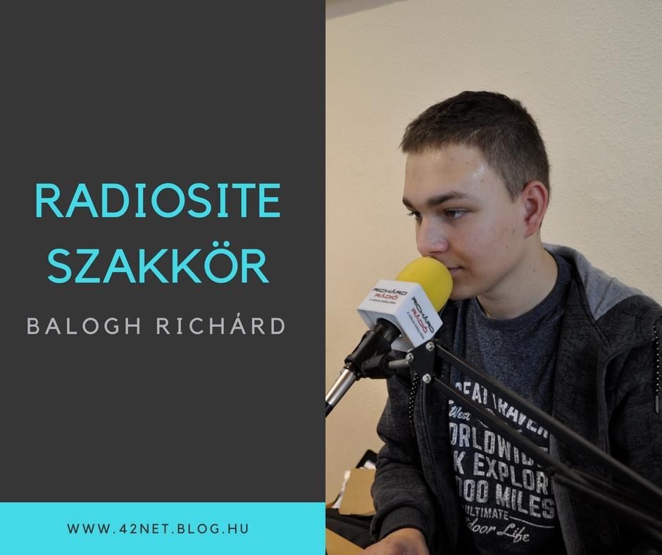 """""""Élményaz,haegyidősebb rádiósműsorvezetőközelébenlehetek"""" - Bemutatkozik Balogh Richárd"""