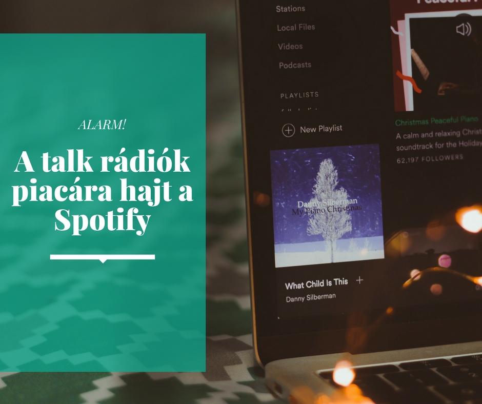 A talk rádiók piacára hajt a Spotify