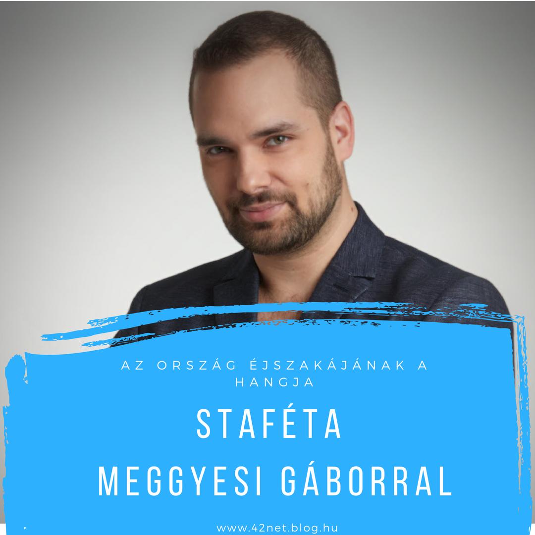 """""""Imádom az egészet"""" - Staféta Meggyesi Gáborral"""
