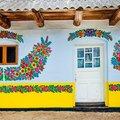 Zalipie, a festett házikók faluja.