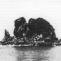 A csatahajó formájú Drum-sziget