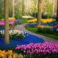 A Keukenhof a világ legnagyobb virágoskertje.
