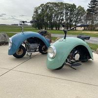 Minimotorok Volkswagen Bogár sárvédőiből