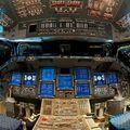 Az Endeavour űrrepülőgép belseje.