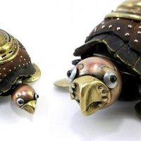 Steampunk stílusú állat szobrok