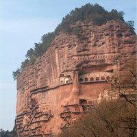 A Maijishan Grottoes a sziklába faragott ősi szentély