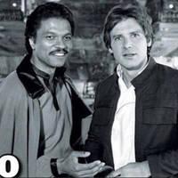 Harrison Ford és Billy Dee Williams 1980-ban és most.