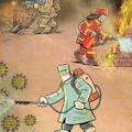 29 rajz, ami bemutatja az orvosok koronavírus elleni küzdelmét.