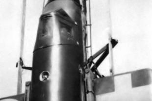 Bachem Ba 349 rakétahajtású vadászrepülőgép.
