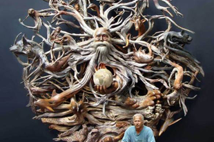 Csodálatos fa szobrok