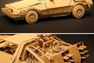 Hihetetlen 3D-s szobrok kartondobozokból.