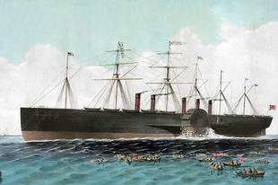 Az SS Great Eastern, korának legnagyobb hajója