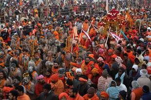 Kumbh Mela fesztivál Indiában