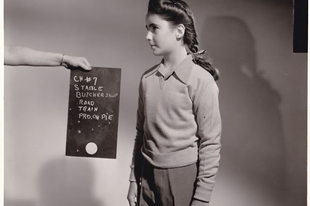 Elizabeth Taylor az 1944-es A nagy derby című film forgatásán.