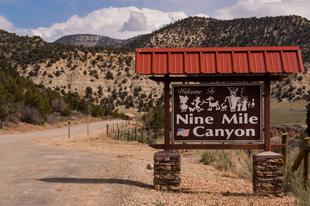 Sziklarajzok a Nine Mile Canyon falain.