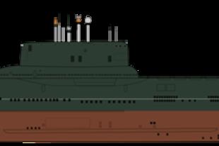 A világ legnagyobb tengeralattjárója.