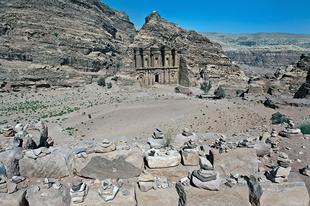 Petra romváros Jordániában.