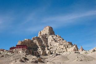Tsaparang, az ősi guge királyság fővárosának romjai.