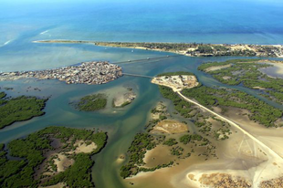 Joal-Fadiouth sziget, amely kagylóból áll